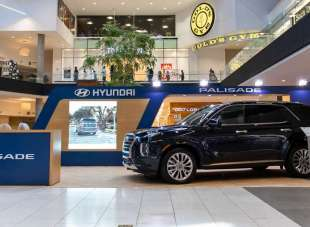 Hyundai Vehicle Display at Westfield Santa Anita Mall